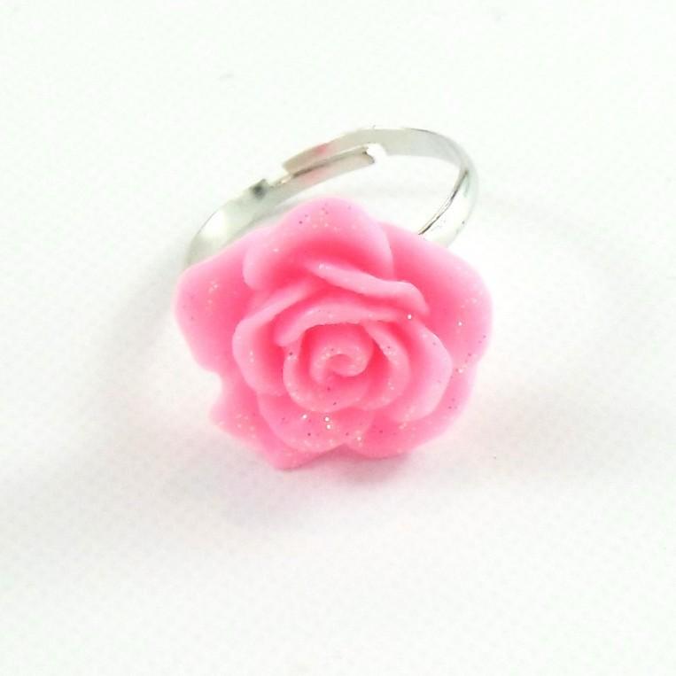 Anello Rosa Glitter