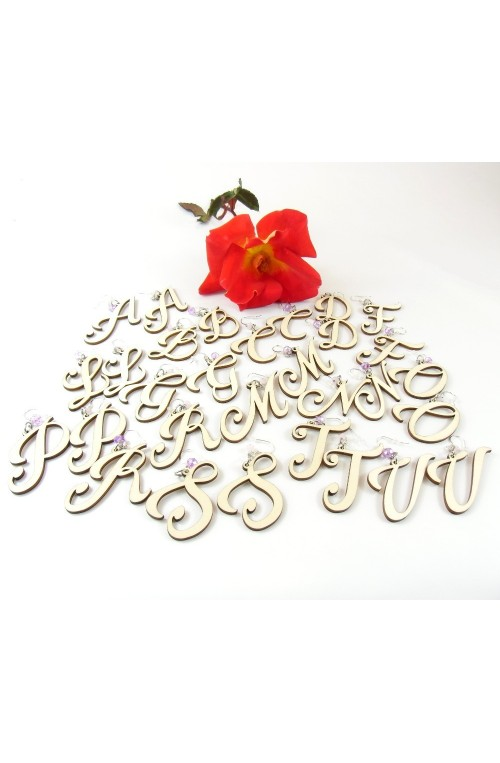 Orecchini Name Iniziale Romantic Italic