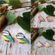 Orecchini Uccellino di Legno