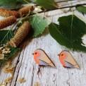 Orecchini Uccellino n.1 di Legno