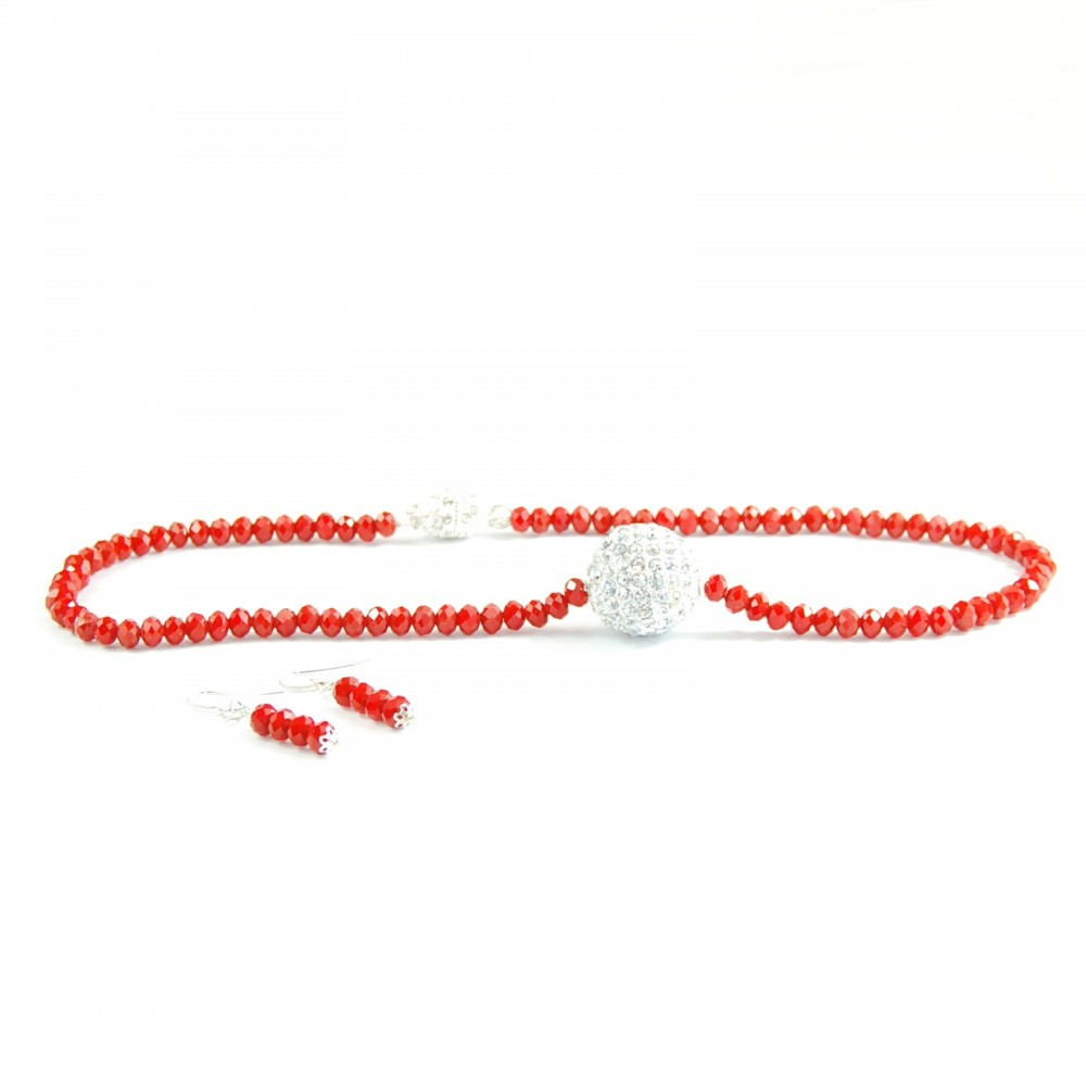 Set Crystal in Red