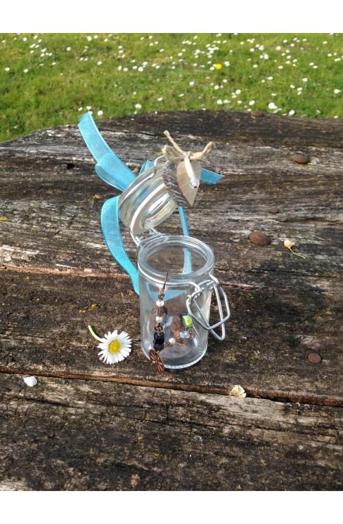 Vasetto porta bijoux con fiocco in organza