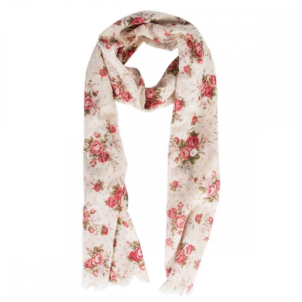Sciarpa Cotone Rose Vintage