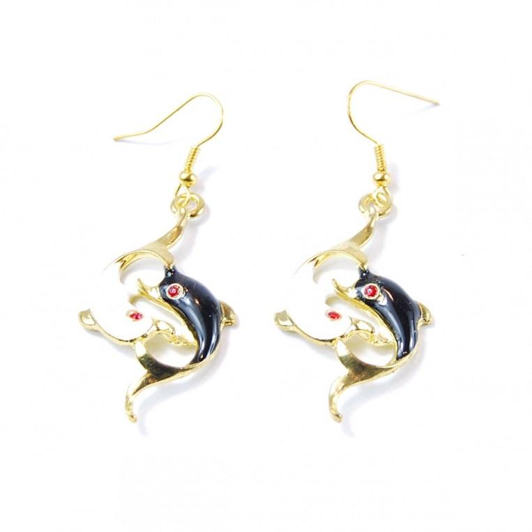 Orecchini Delfini Gold