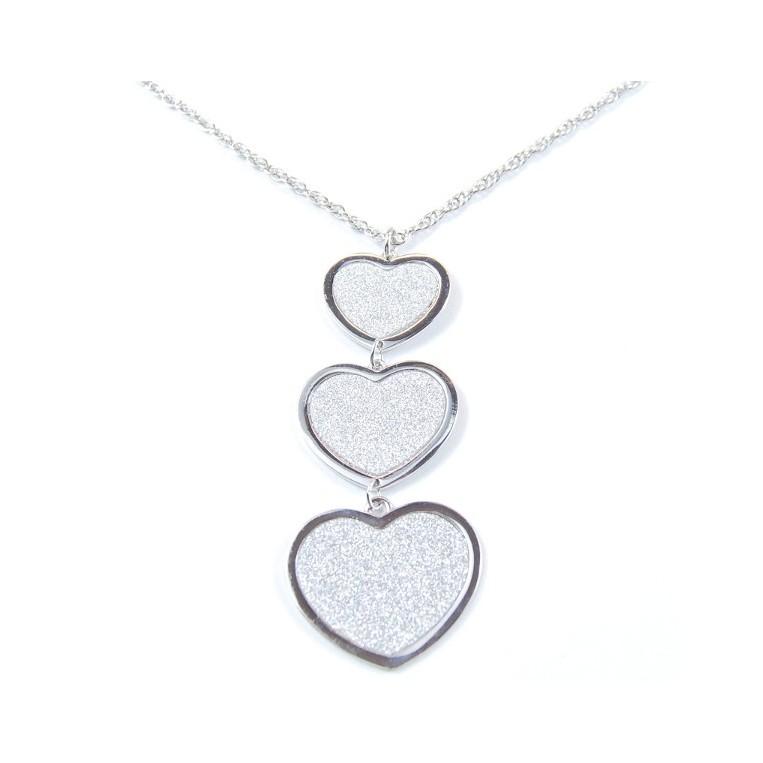 Collana Cuori Diamond Silver