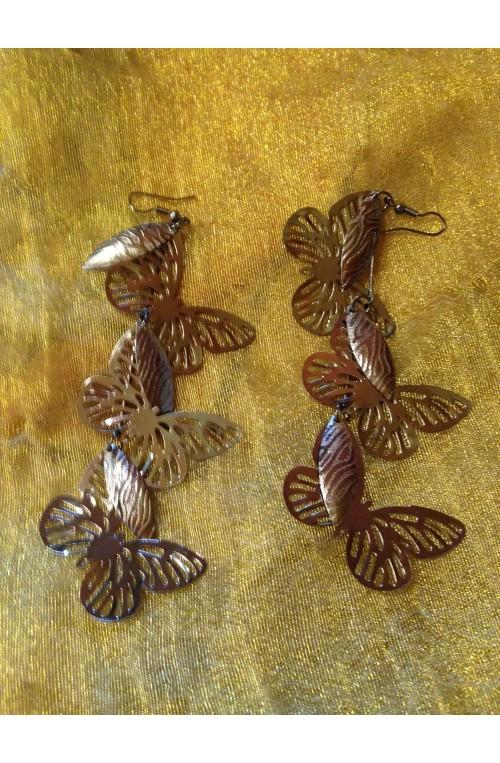 Orecchini Butterflies Drop