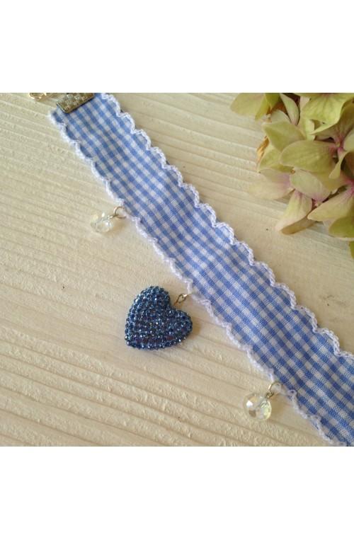 Bracciale Gingham Blue