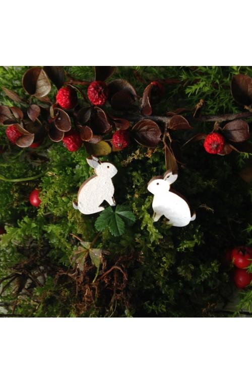 Orecchini Coniglio di Legno