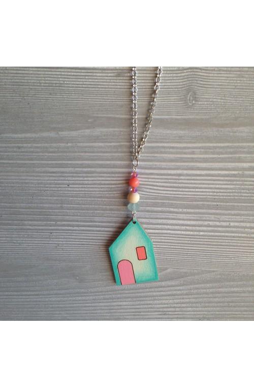Collana Cottage di Legno con Swarovski e Ametista in Preordine