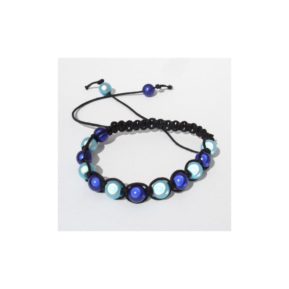 Bracciale Shamballa Rainbow Blu