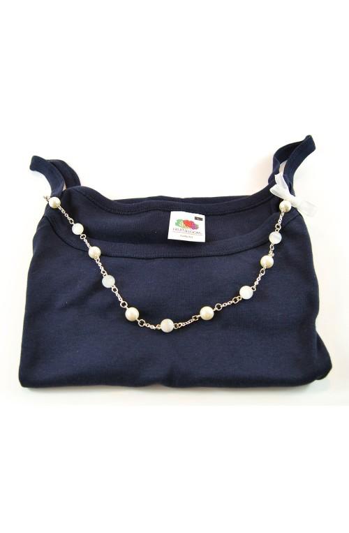 Canotta bijoux blu navy