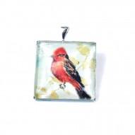 Ciondolo Uccellino Rosso