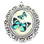 Ciondolo Farfalle Azzurre