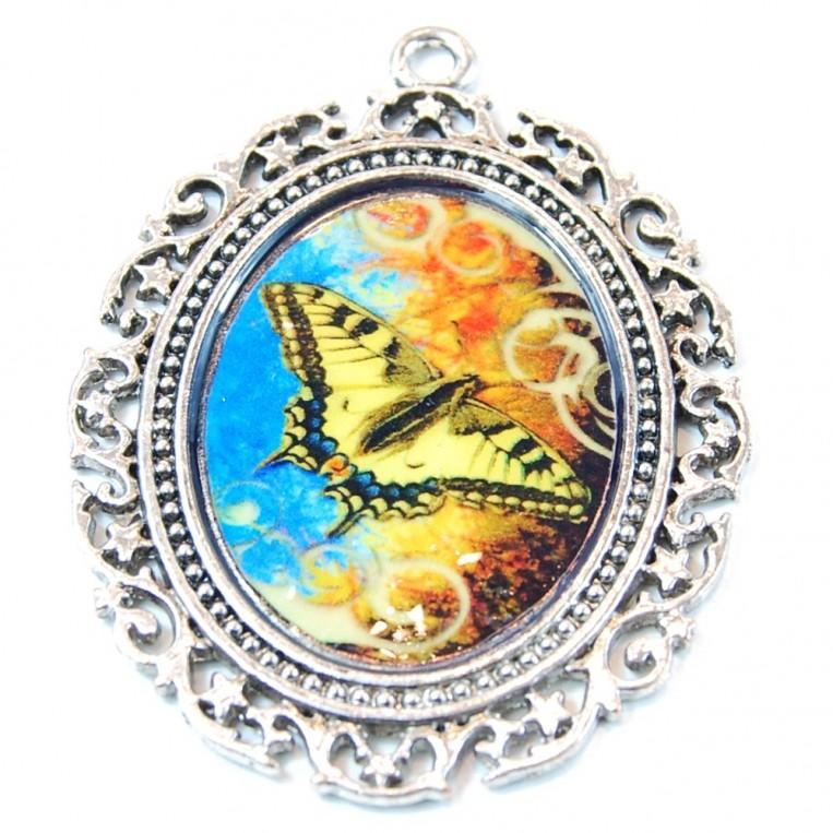 Ciondolo Farfalla Gialla