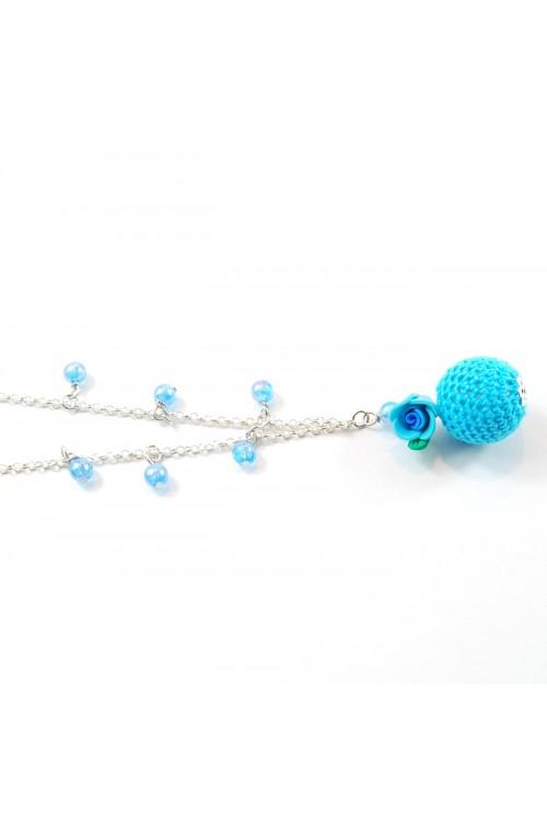 Collana Bubble Rose Azzurra
