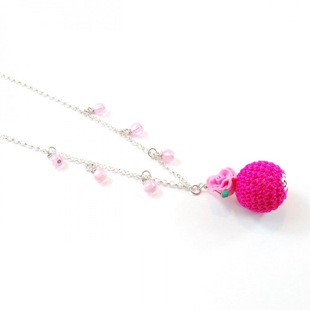 Collana Bubble Rose Rosa