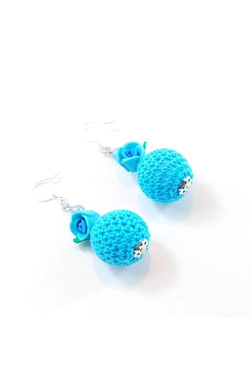 Orecchini Bubble Rose Azzurro