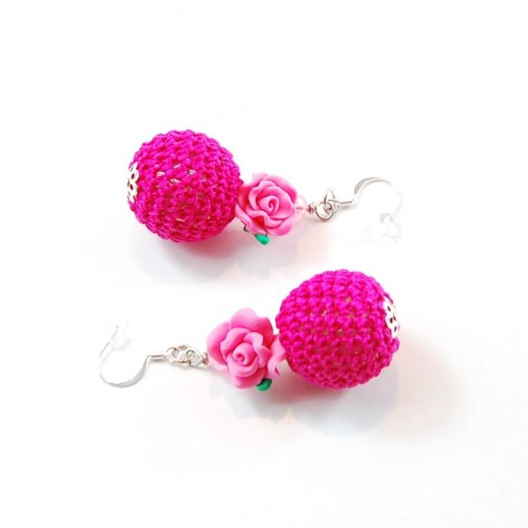 Orecchini Bubble Rose Rosa